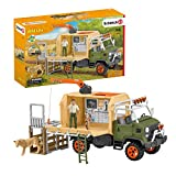 Schleich Wild Life 10-piece Animal Rescue Toy Truck with Ranger and Animals Playset for Kids Ages 3-8 Multicolore, 11 x 39 x 23 cm