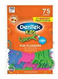 DenTek Kids Fun Flossers | Removes Food & Plaque | 75 Count