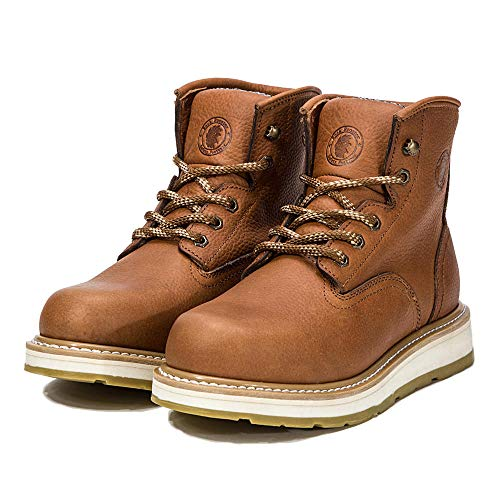 ROCKROOSTER Work Boots for Men, Soft Toe Waterproof Comfortable Anti-fatigue Working Shoes, EEE Job-fitted Boots for The Electrician, Carpenter, Ironworker, Boilermaker, Sheetmetal Worker etc. AP615 US-11.5