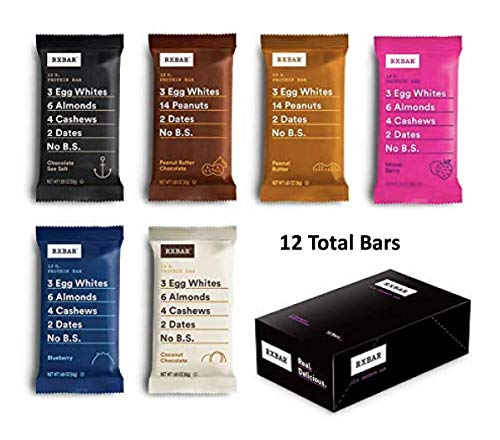 RXBAR, Best Seller Variety Pack, Protein Bar, 1.83 Ounce (Pack of 12) Breakfast Bar, High Protein Snack