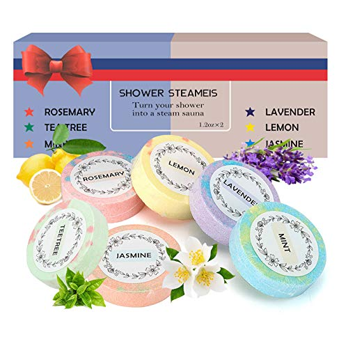 Shower Steamers, Body Restore Shower Steamer Aromatherapy with Essential Oil Bath Bombs for Stress Relief Relaxation Home Spa Gifts for Woman and Man