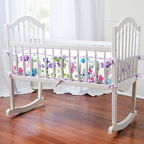 Great Deal! Carousel Designs Wildflower Garden Cradle Bumper