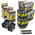 "Eastern Bikes 26"" Tire Repair Kit with or Without Tubes (Yellow Logo, 2 Pack with Tubes)"
