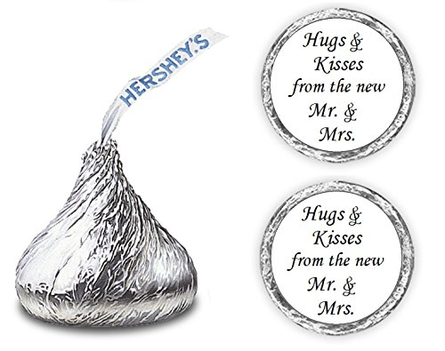 324 Hugs and Kisses from the new Mr. & Mrs. Hershey Kiss Wedding Stickers, Chocolate Drops Labels Stickers For Weddings, Bridal Shower Engagement Party, Hershey s Kisses Party Favors Decor