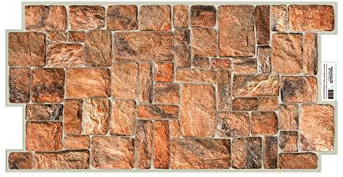 Paneles de pared 3D azulejos efecto piedra decorativo PVC revestimiento de plástico moderno (piedra natural)