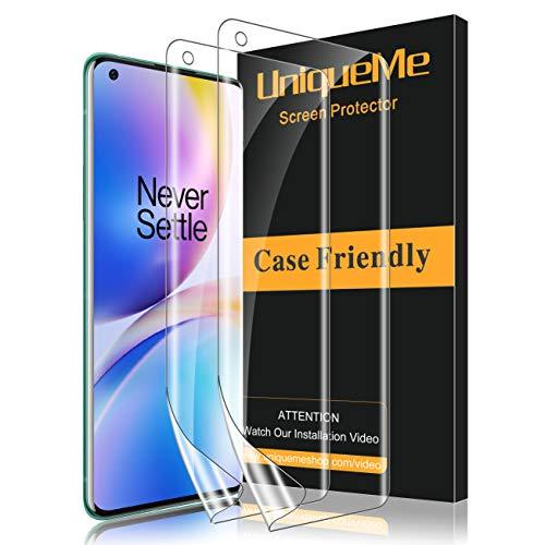 UniqueMe [2 Stück] Schutzfolie für Oneplus 8 Pro Folie, Oneplus 8 Pro Flexible Bildschirmschutzfolie Soft HD TPU Klar Bildschirmschutz