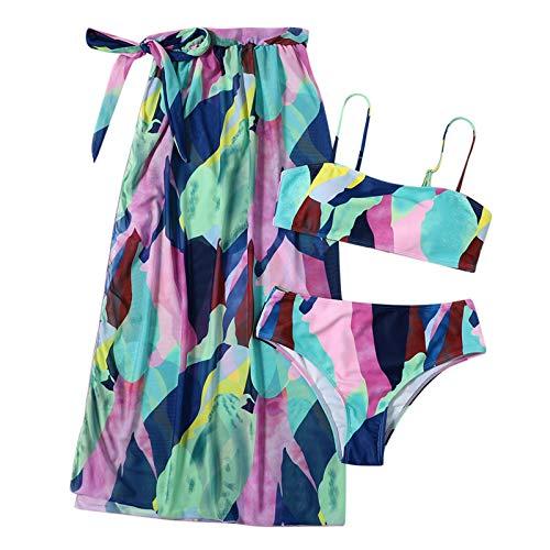 Routinfly Ropa de playa, bikini deportivo para playa, bikini de dos piezas para mujer, bikini sexy para mujer, bikini de verano femenino, bikini de dos piezas