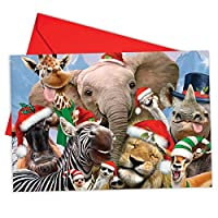 Merry Christmas to動物園クリスマスユーモアカード 12 Christmas Card Pack (SKU:B6652CXSG)