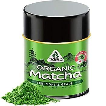 Organic Matcha Green Tea Powder - Authentic Japanese Top Ceremonial Grade Matcha Powder - 100% Pure Highest Quality 1st Harvest [1.07oz]