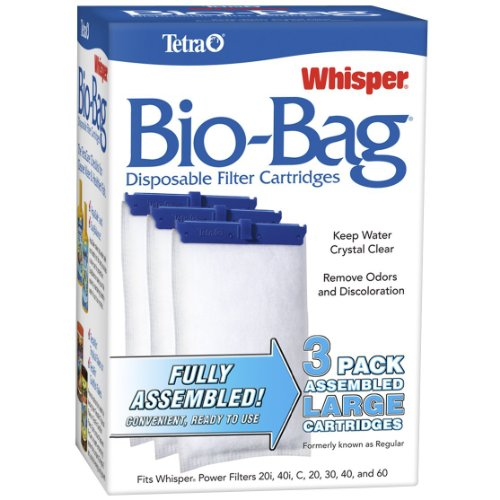 Tetra Whisper Assembled Bio-Bag Filter Cartridges for Aquariums (3 pack)