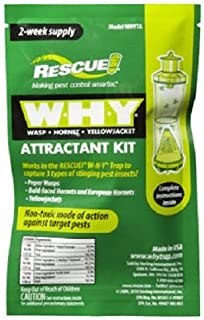 RESCUE WHYTA WHY Trap Wasp, Hornet, Yellow Jacket Non-Toxic Attractant Refill (2 Week) [8 Pack]