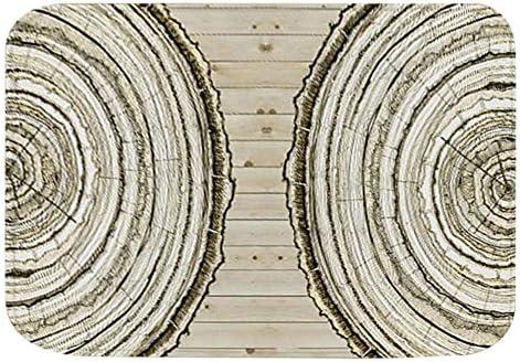 Phisscii Decoratief TapijtDecoratieve Jaarlijkse Ring Patroon Tapijt Vloer Antislip Mat Voor Woonkamer Slaapkamer 4060cm