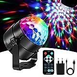 Karrong Discokugel LED Party Lampe Musikgesteuert mit USB, 7 Farbe Discolicht Partylicht Disco Licht Lichteffekte, Partybeleuchtung DJ Licht für Kinder Weihnachten Party Geburtstag Dekoration