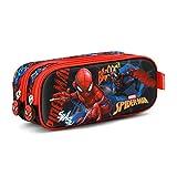 Spiderman Smash-3D Doppelfedermäppchen Trousses,  Bleu