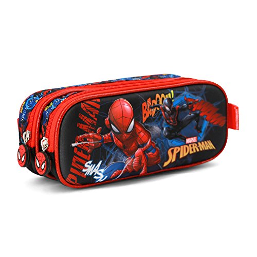 Karactermania 37095 Spiderman Smash Estuches, 22 cm, Azul