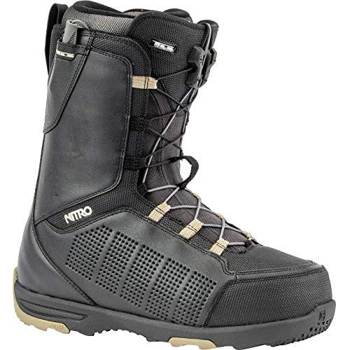 Nitro Thunder TLS Boots de Snowboard pour Homme Taille 20, Homme, Sand-Black, 41 1/3