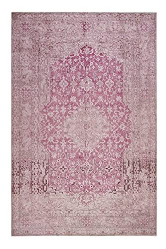 Wecon Home I Past Future WH-12193-01 I - Alfombra de pelo corto (80 x 150 cm), color rosa y beige