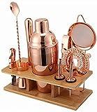 LBWARMB Kit Cocktail Cocktail Shaker Set 550 ml / 750 ml Coctel de cóctel Maquillaje de fabricación de Acero Inoxidable Bartender Kit para Mezclador Vino Home Bebida Accesorios de Bares Herramienta