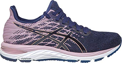 ASICS Damen Cumulus 21 Knit Traillaufschuh, Peacoat/Rose Gold, 42 EU