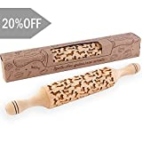 Dachshund Dog Rolling Pin Pattern Wooden Engraved Rolling Pin for baking classic- By Enjoy The Wood - Rolling Pin engraved Sugar Cookies Gift for Her Small decorative