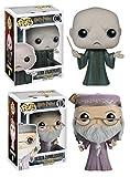 Funko POP! Harry Potter: Albus Dumbledore + Voldemort - Vinyl Figure Set NEW...