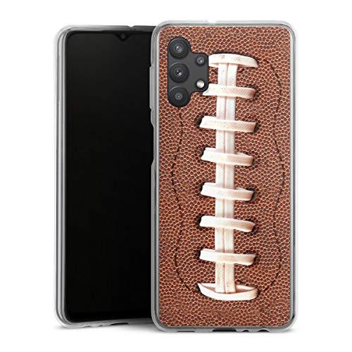 DeinDesign Silikon Hülle kompatibel mit Samsung Galaxy A32 5G Case transparent Handyhülle Fußballer Ball American Football