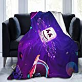TopliTrend DJ-Ma-rsh-Mel-lo Blanket 50'x40' 3D Printed Super Soft Fleece Wool Ultra Luxurious Warm and Cozy for All Seasons The Perfect Caring Gift for Best Friends, Couples & Family