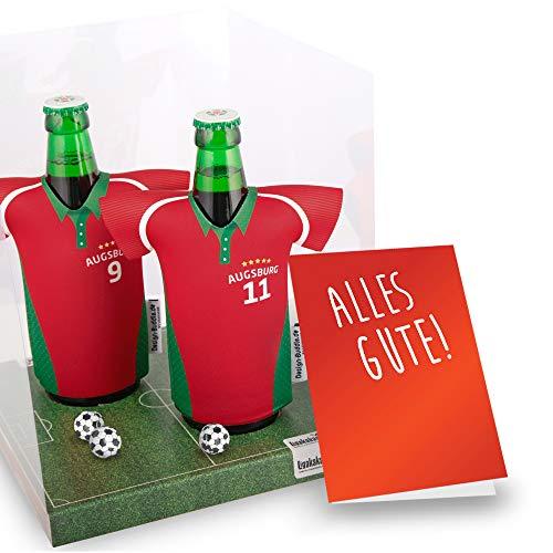 Der Trikotkühler   Das Männergeschenk für Augsburg-Fans   Langlebige Geschenkidee Ehe-Mann Freund Vater Geburtstag   Bier-Flaschenkühler by Ligakakao