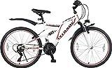 24' 24 Zoll Kinderfahrrad Kinder Jugend Jungen Mountainbike MTB Fahrrad Rad Bike Jugendfahrrad 21 Gang Viper Weiis Rot TYT19-013