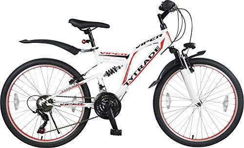"24\"" 24 Zoll Kinderfahrrad Kinder Jugend Jungen Mountainbike MTB Fahrrad Rad Bike Jugendfahrrad 21 Gang Viper Weiis Rot TYT19-013"