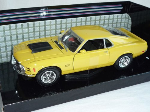 Motormax Ford Mustang Boss 429 Gelb 1970 Coupe 1/24 Modellauto Modell Auto