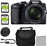 Crystal Nikon COOLPIX B500 Digital Camera (Black) Bundle