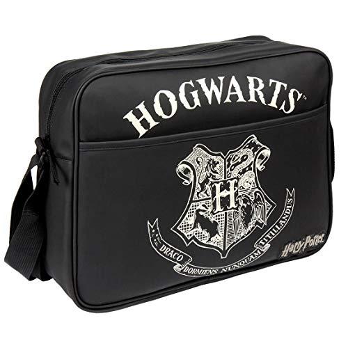 ARTESANIA CERDA Herren Bolso Bandolera Harry Potter Tagesrucksack, Black (schwarz), 11x30x36 cm