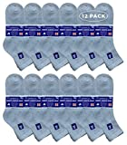 Yacht & Smith King Size Loose Fit Non-Binding Soft Cotton Diabetic Crew & Ankle Socks, Bulk Value Pack (12 Pack Gray Ankle, King (13-16))