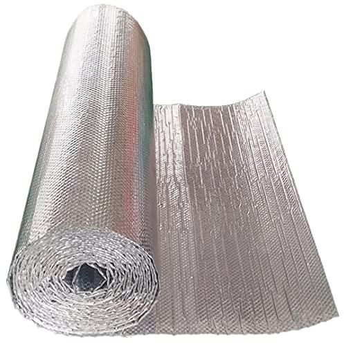 NAKAN Aislamiento Térmico Reflexivo Radiador Calor Reflector Resistente al Agua y al Vapor Lámina de Aluminio para Paredes, Techos, Pisos, Desvanes(Size:1x15m(3x49ft))