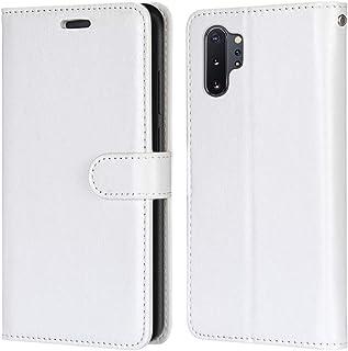 Laybomo Carcasa para Samsung Galaxy Note10+ N975 Tapa Funda Cuero Estilo-Sencillo Monederos Billetera Bolsa Magnética Prot...