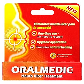 Oralmedic Mouth Ulcer and Canker Sore Treatment Instant Pain Relief - Pack of 2