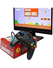 SmartCam®️ 98000 in 1 Built-in Video Game Portable with USB Port 8 Bit TV Console for Kids Boys ( No Battery Needed ) - Black (Play On Any TV with AV Inputs)