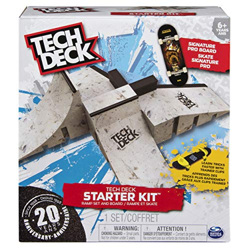 Tech Deck - Starter Kit - Ramp Set with Exclusive Board and...