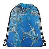 XCNGG Sporttasche Kordeltasche Reisetasche Sporttasche Schultasche Rucksack Working The Crowd Gym Bag Travel Drawstring Backpack Men & Women Sport Bag Portable Storage Bag for Camping Hiking Swimming