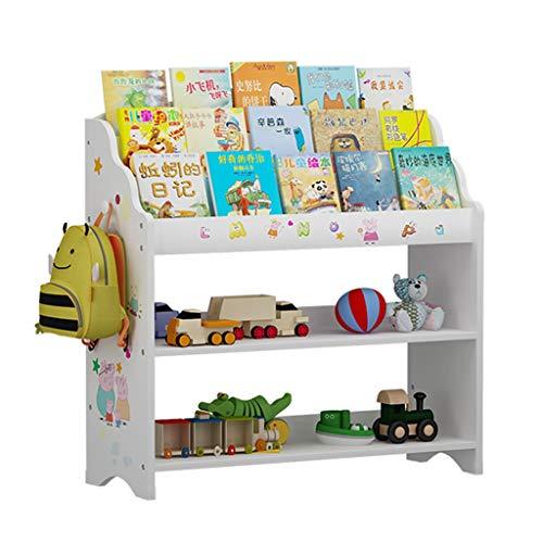 Bibliothèque pour Enfants Blanche Support De Rangement pour Jouets Etagère De Finition pour Jardin d'enfants Boîte De Rangement (Color : Blanc, Size : 83x30x80cm)
