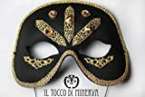 Maske swarovski Wasserzeichen Lucy handgefertigt Made in Italy- handgefertigt - handgemacht - Mädchen Geschenk Mädchen - Geschenke für sie - Weihnachten