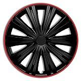 Jeu d'enjoliveurs Giga R 13-inch noir/rouge