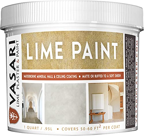 Lime Paint by Vasari Lime Plaster & Paint | Interior or Exterior (1 Qt)