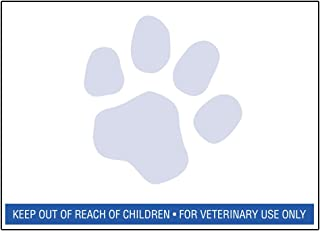 12 Rolls of RJS Brand Veterinary Prescription Labels with Blue Paw Print & Warning - 400 per roll - Compatible with 30258