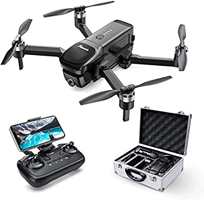 Potensic D68 GPS Drone with 4K FHD Camera, Brushless Drone RTH, 5G WiFi FPV Foldable RC Quadcopter with Case, Altitude Hold, 25min 40km/h Flight Follow Me Orbit Mode Selfie Drone for Photographers by Potensic