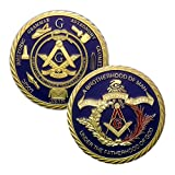 Masonic Challenge Coin for Freemasons Commemorative Coin 3D Design with case