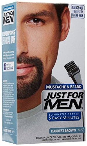 Price comparison product image Just For Men Brush-In Color Mustache & Beard - Darkest Brown