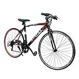 ●フレーム材質:高炭素鋼  変速機:シマノ14段 ●タイヤサイズ:700x25C 製品重量:(約)13.4kg ●適応身長:155~185cm ●備考:自転車は85%の組立済み状態でお手元にお届きます。ハンドル、ペダル、サドルはお客様ご自身でお組立てしてくだい。 ●「保証サービス」に対応しております。お買い上げ頂いた対象製品に初期不良、不具合、あるいは何かご不明の点がある場合、弊社のカスタマーサービスセンターまでにお問い合わせください。