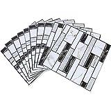 3D Fliesenaufkleber 10er Pack 30x30 cm Fliesenfolie Klebefolie Fliesen Klebefliesen für Küche Bad Deko Fliesenaufkleber Selbstklebende Abnehmbar Wasserdicht 3D Mosaik Wallpape